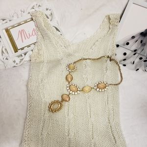 Tops - JUST IN WHITE KNITTED TANK TOP